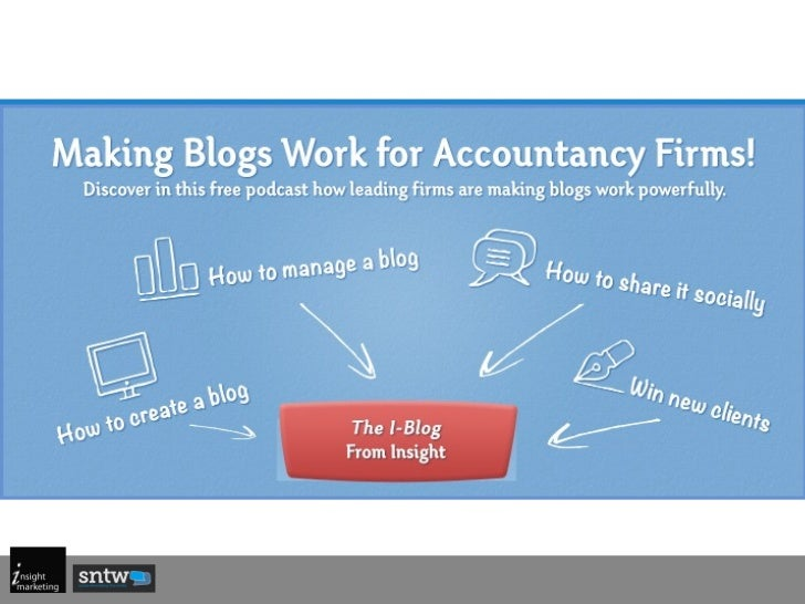 Blogs work for accountancy firms - How accountants use blogs to increase SEO and get a result from social media
