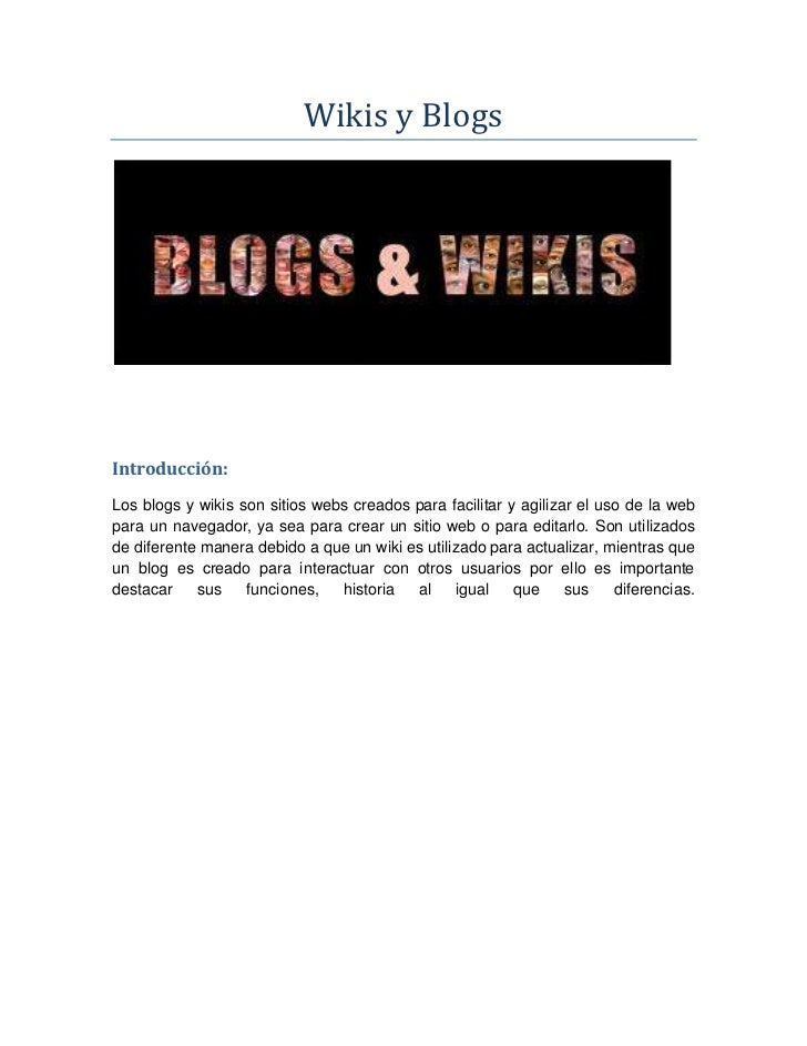 Blogs y wikis