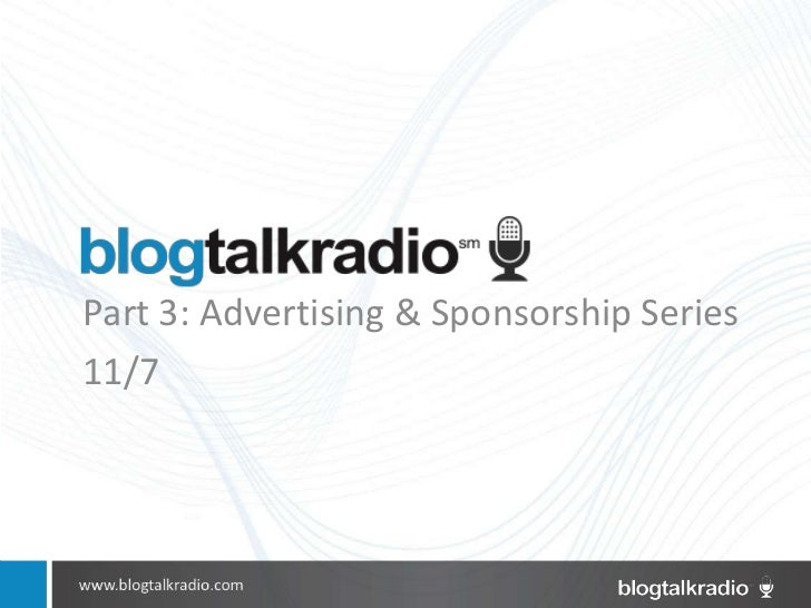 Part 3: Advertising & Sponsorship Series11/7