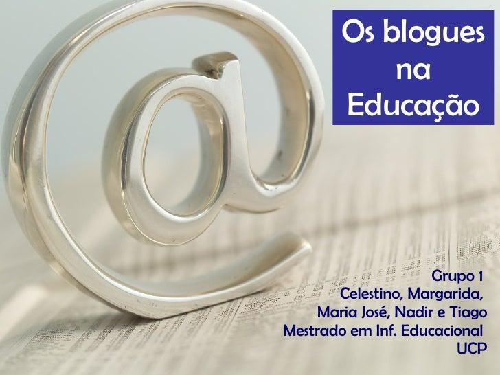 Os blogues na educação