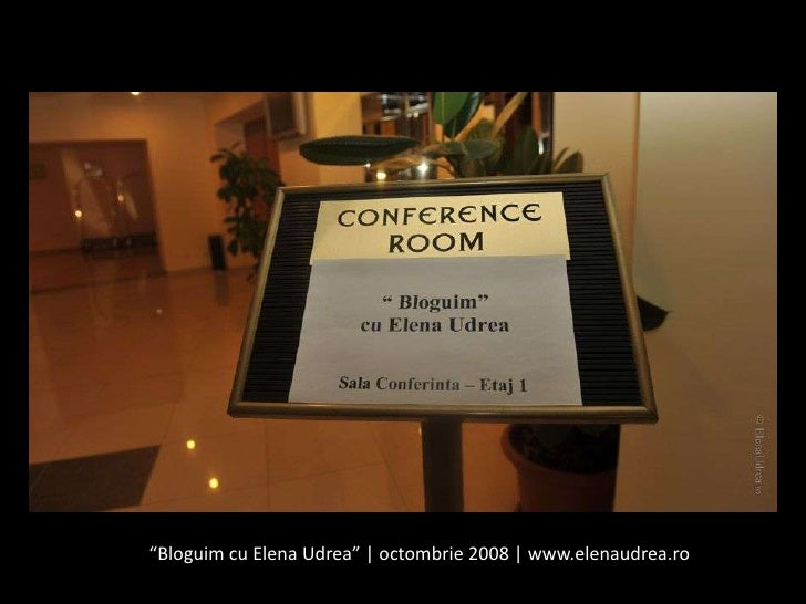 """Bloguim cu Elena Udrea""   octombrie 2008   www.elenaudrea.ro<br />"