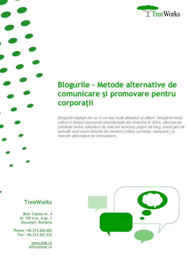 Blogurile - Metode alternative de comunicare si promovare