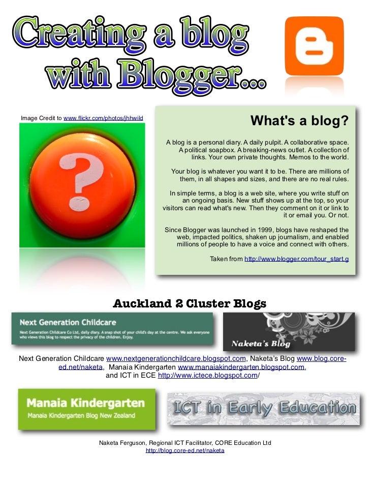 Blog using Blogger