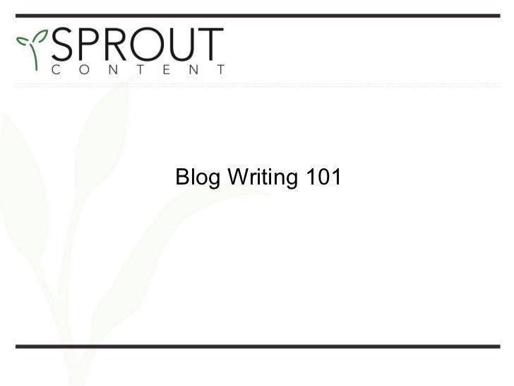 Blog writing presentation