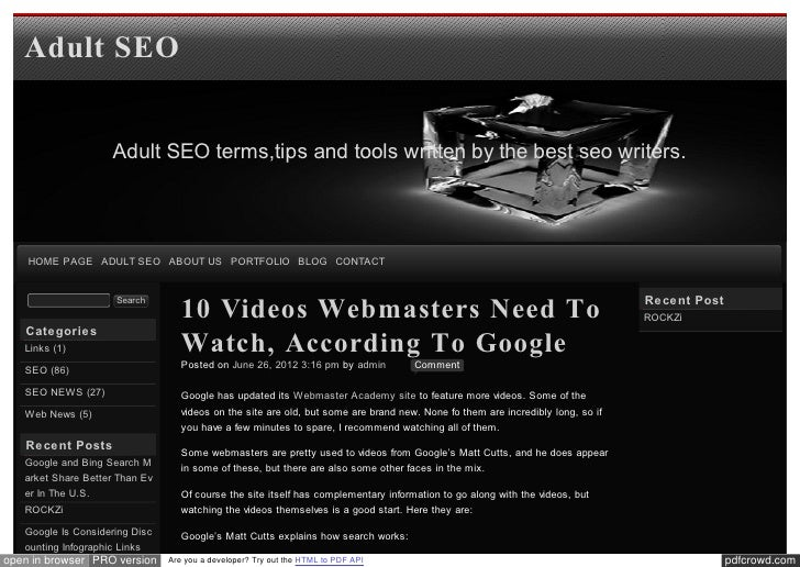 Blog xseo 10 Videos Webmasters Need To Watch, According To Google