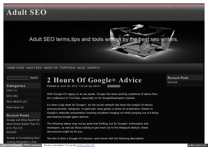 Blog xseo 2 Hours Of Google+ Advice