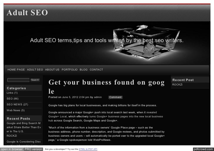 Blog xseo Get your business found on google