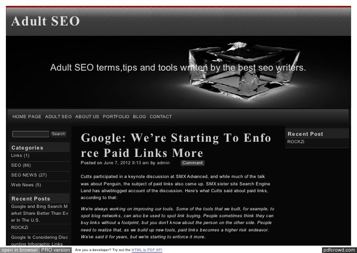 Blog xseo Google: We're Starting To Enforce Paid Links More
