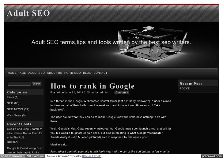 Blog xseo How to rank in Google