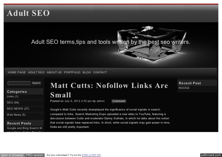 Blog xseo Matt Cutts: Nofollow Links Are Small