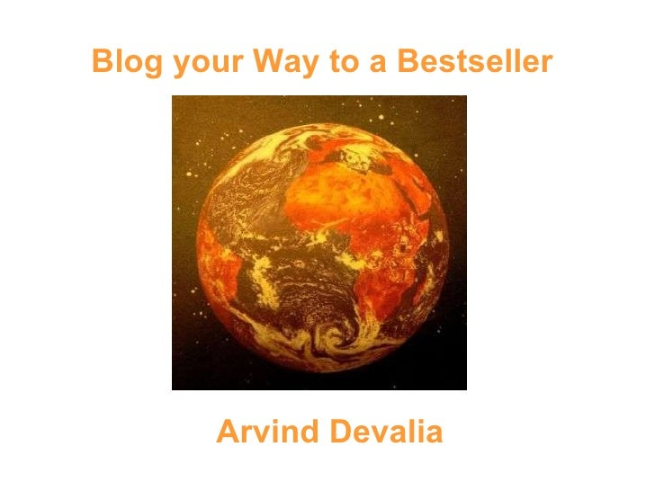 Blog your way to a best seller