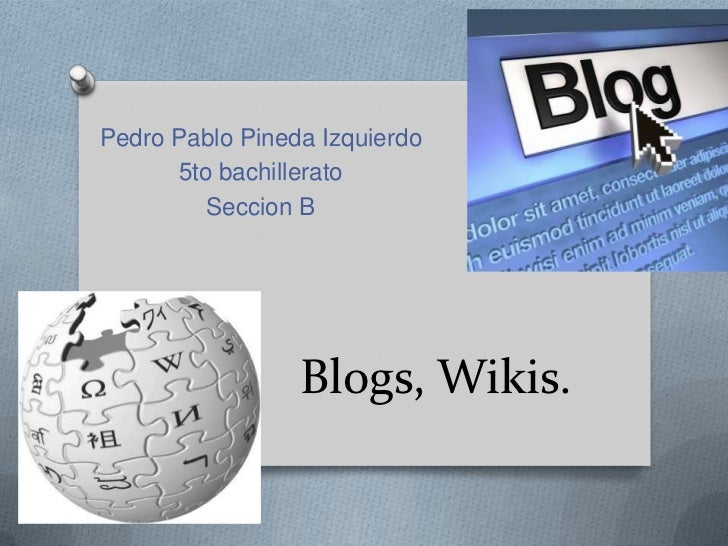 Blog y wikis