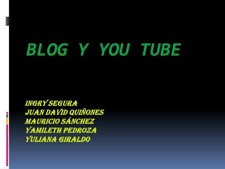 Introducción El objetivo de la investigación es  dar a conocer dos de las múltiples  herramientas (blogs y you tube)  que...