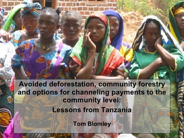 Avoided deforestation, community forestry and options for channeling payments to the community level