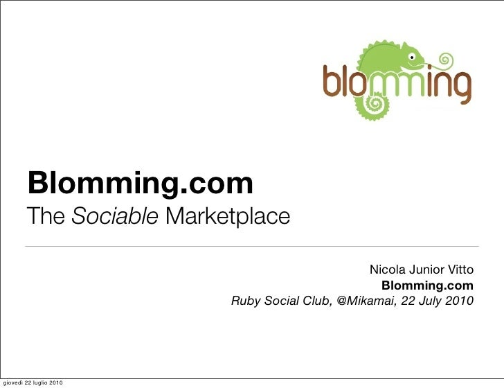 Blomming.com         The Sociable Marketplace                                                  Nicola Junior Vitto        ...