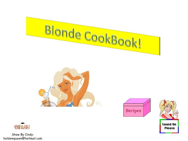 Blonde Cookbook 10 30 08