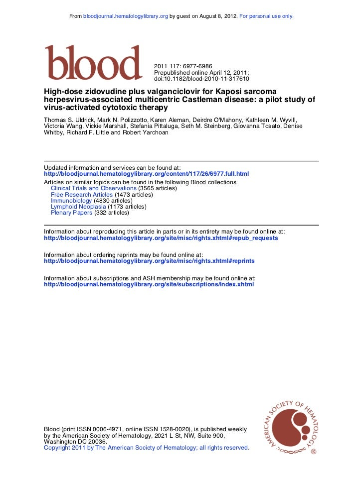 From bloodjournal.hematologylibrary.org by guest on August 8, 2012. For personal use only.                                ...