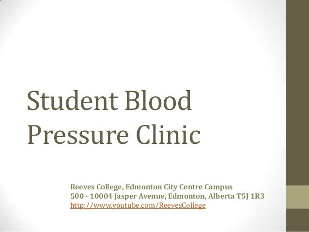 Blood Pressure Clinic Event at Reeves College