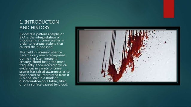 History Of Bloodstain Patterns