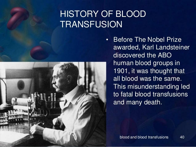 Blood and blood transfusions