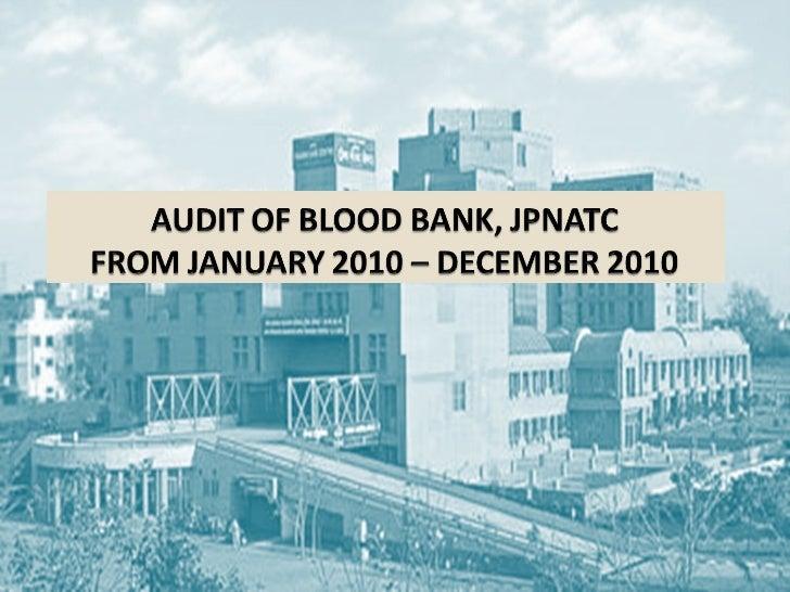 Blood bank Census 2010(JPNATC)