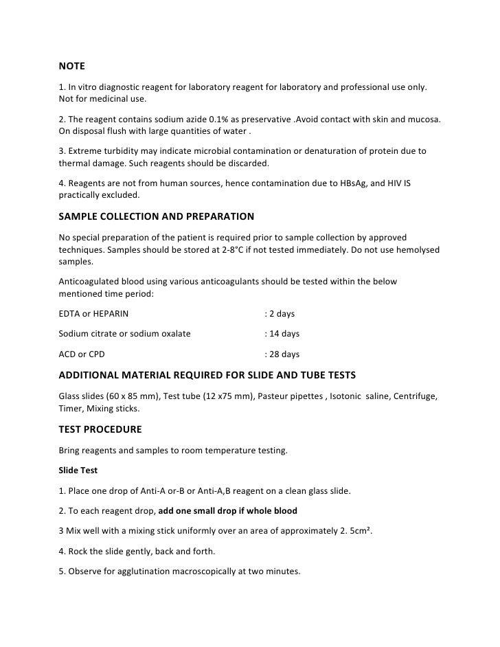 Note 1 in vitro diagnostic reagent for laboratory reagent for