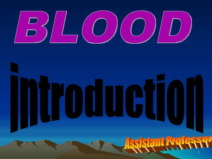 Blood basic facts final