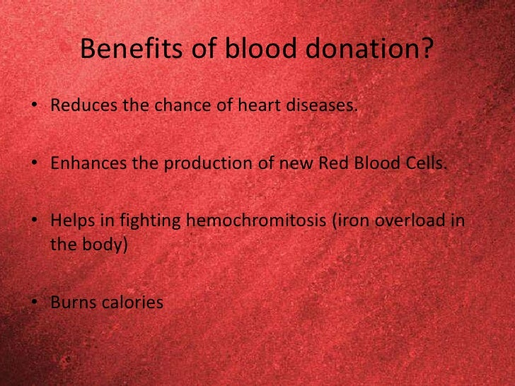 blood donation informative speech outline