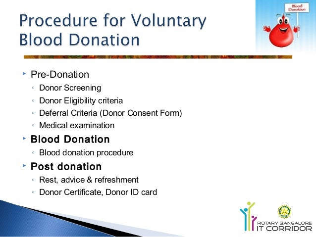 Donate Blood Criteria