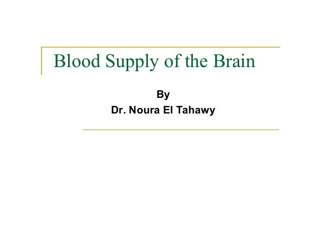 Blood Supply of the Brain By Dr. Noura El Tahawy