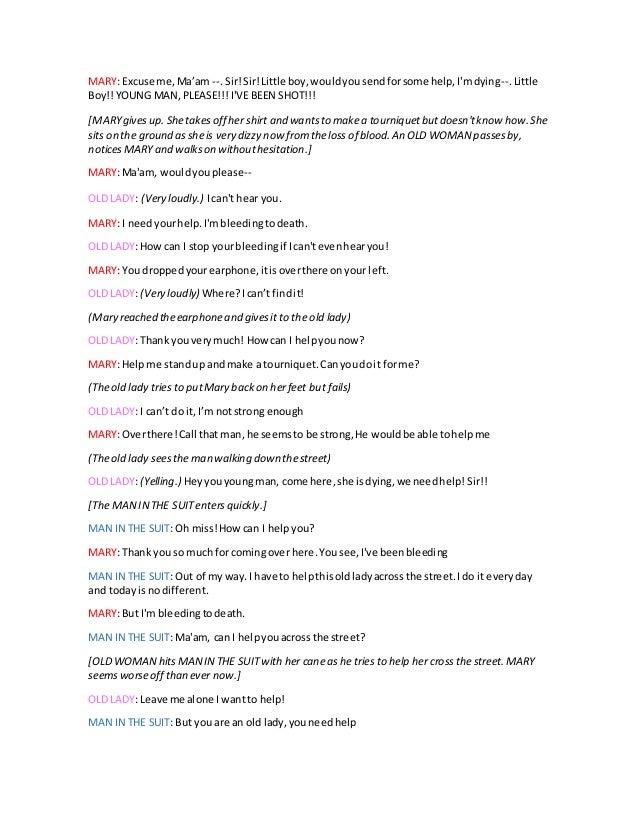 script draft for high school skit