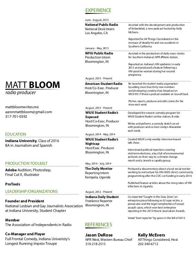 bloom resume
