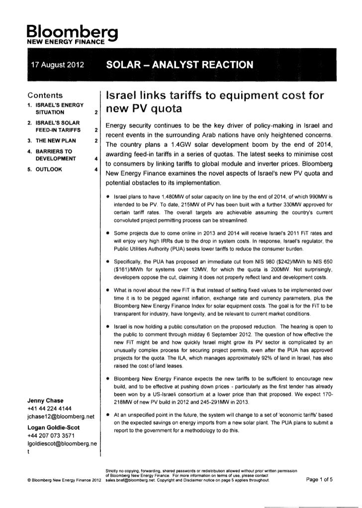 §!~2m.2~rg  17 August 2012                       SOLAR -ANALYST REACTIONContents                              Israel links...