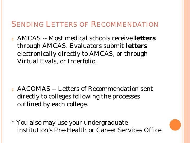Amcas letters
