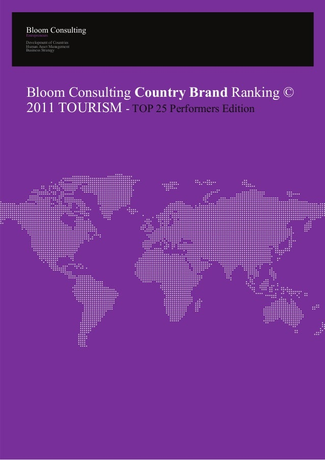 Development of CountriesHuman Asset ManagementBusiness StrategyBloom Consulting Country Brand Ranking ©2011 TOURISM - TOP ...