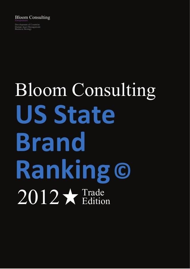 Development of CountriesHuman Asset ManagementBusiness StrategyBloom ConsultingUS StateBrandRanking ©  2012               ...