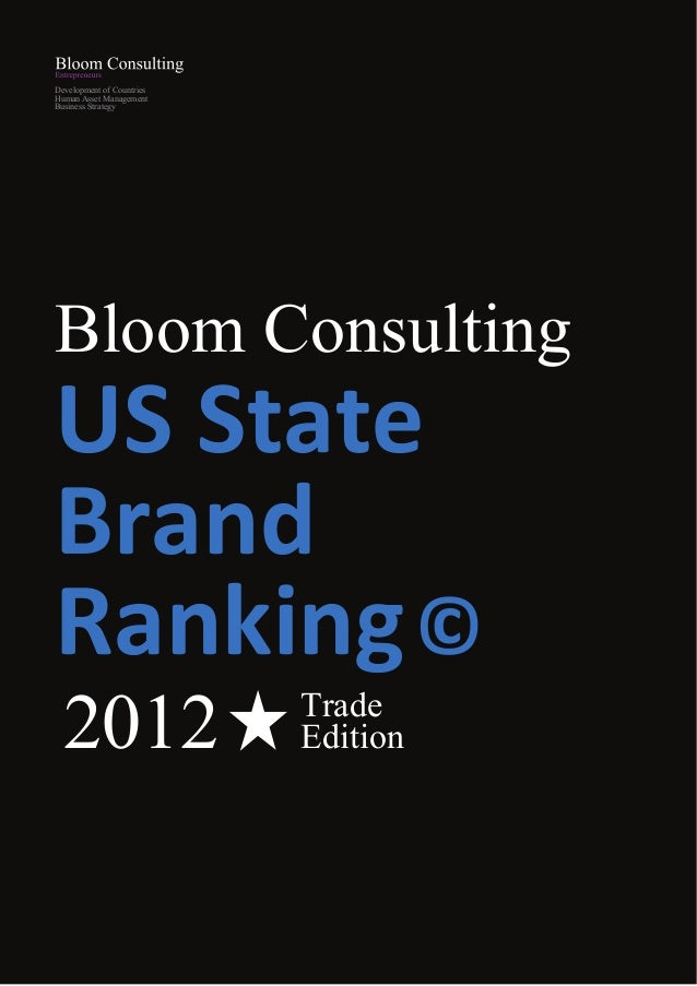 Bloom consulting us state brand ranking trade 2012