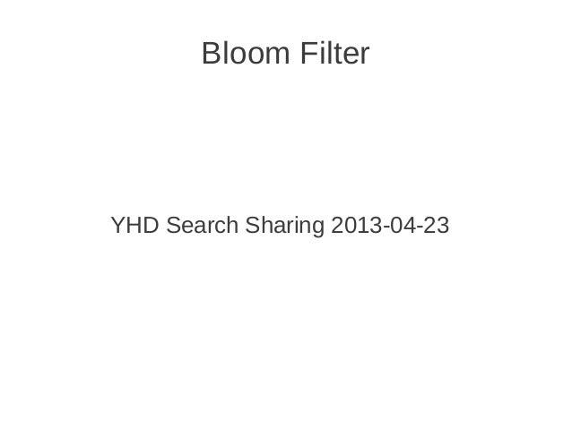 Bloom filter