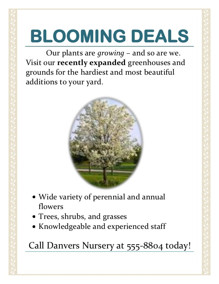 BLOOMING DEALS<br />14478001669415       Our plants are growing – and so are we. Visit our recently expanded greenhouses a...