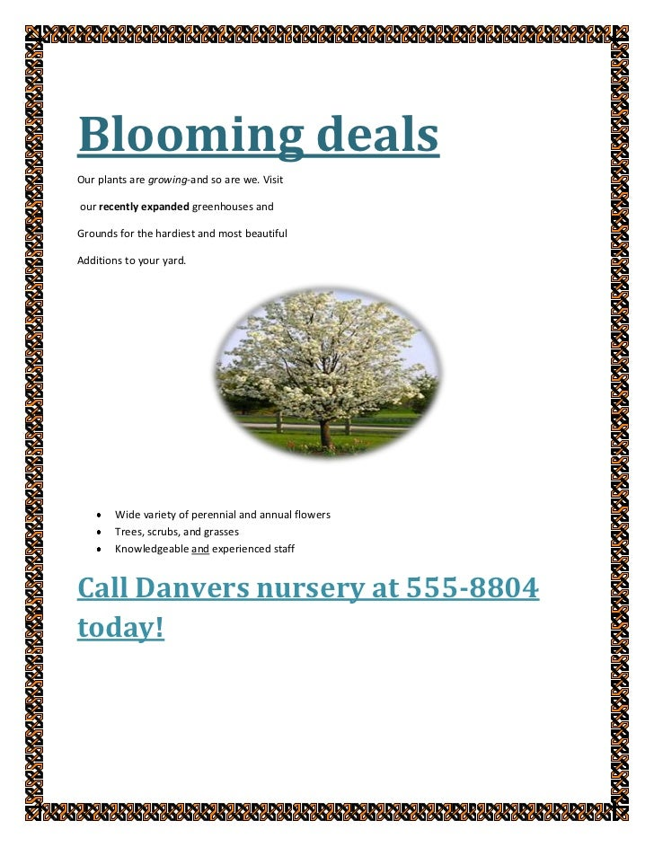Blooming deals