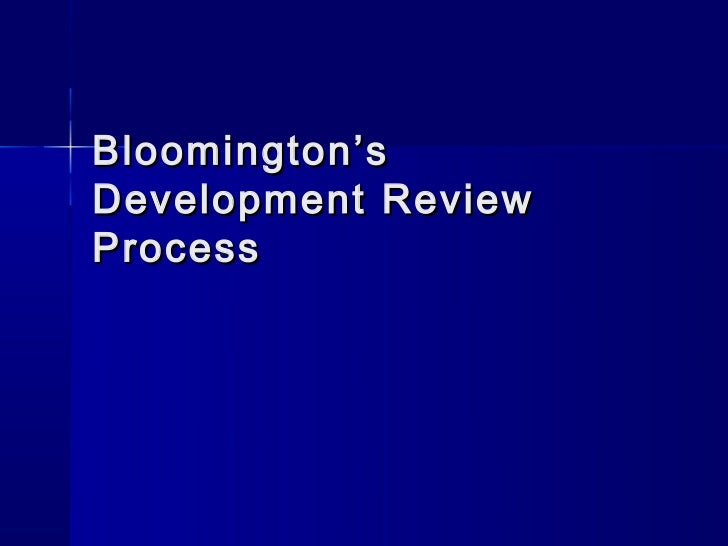 Innovation in Government: Bloomington's Development Review Process