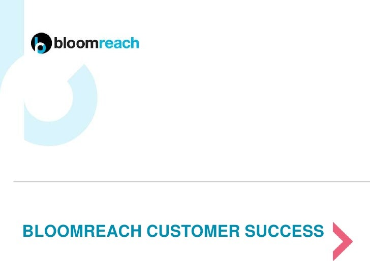 BLOOMREACH CUSTOMER SUCCESS