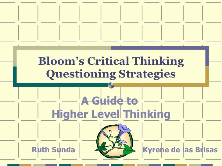Bloom's Critical Thinking