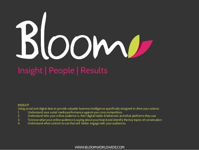 BLOOM Social Media Audience Insight