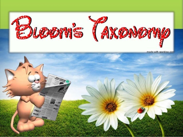 Bloom's Taxonomy (complete)