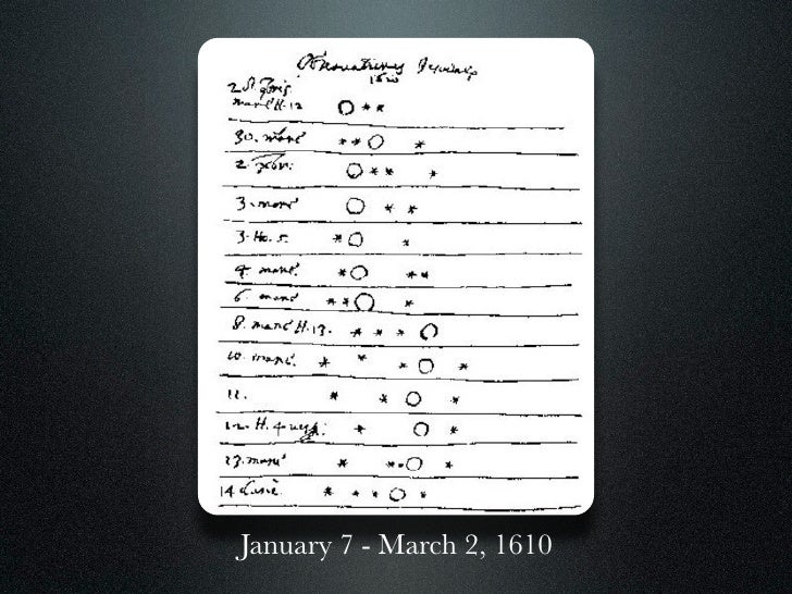 January 7 - March 2, 1610
