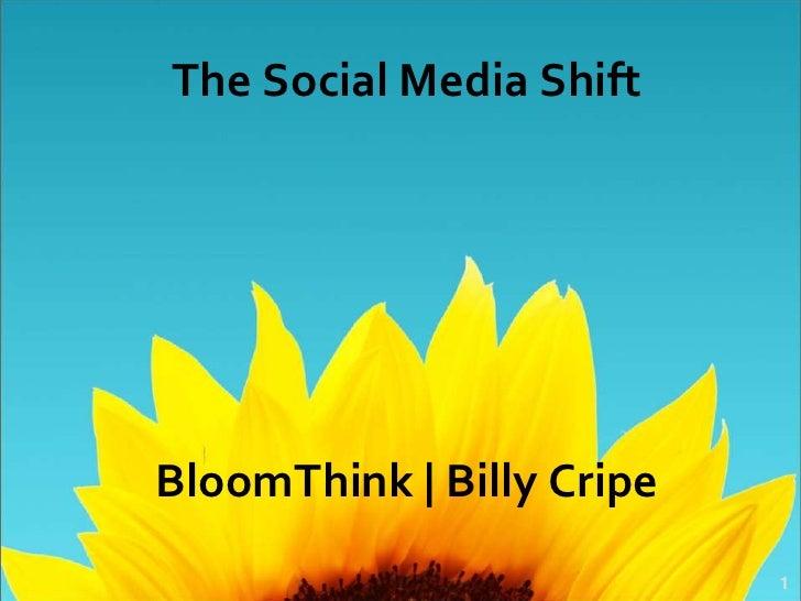 The Social Media ShiftBloomThink | Billy Cripe                           1
