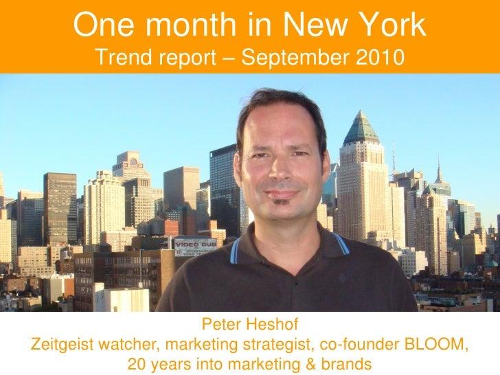 Trend Report - New York 2010 - BLOOM