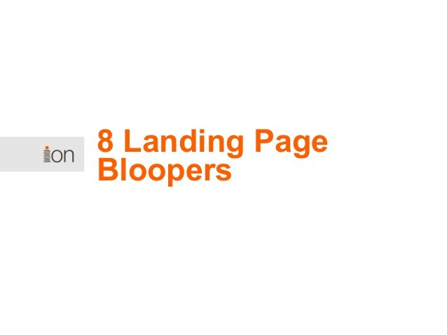 8 Landing Page Bloopers