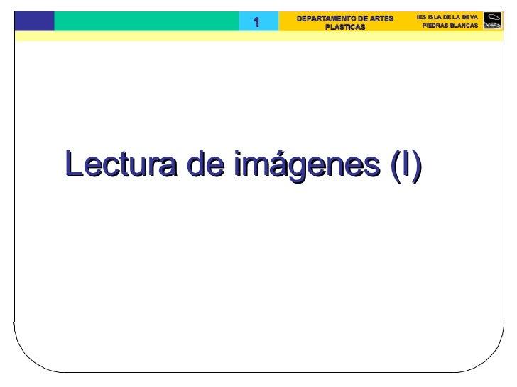 Lectura de imágenes (I)